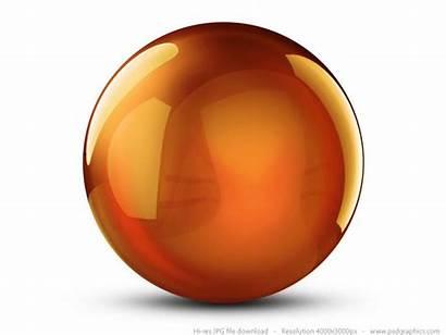 3d Crystal Sphere Orange Ball Graphic Circle