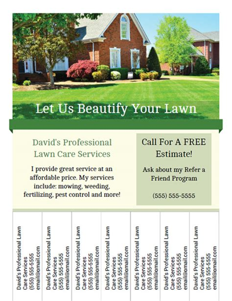 landscaping flyer printable lawn care business flyer templates
