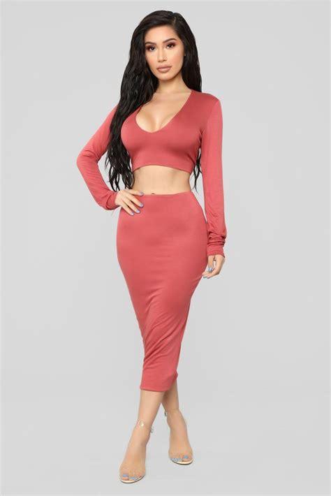 Just The Basics Skirt Set - Marsala | Autumn fashion women ...