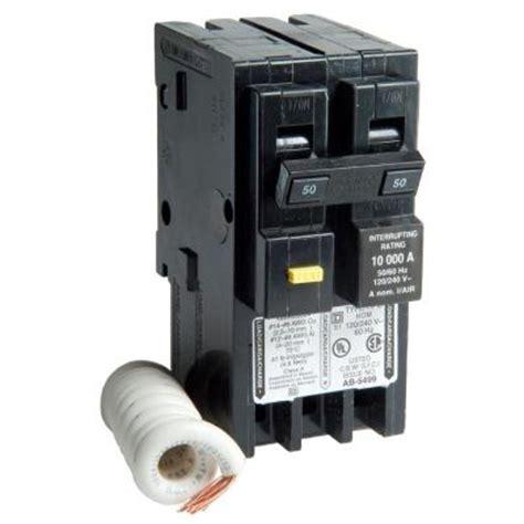 Square Homeline Amp Two Pole Gfci Circuit Breaker