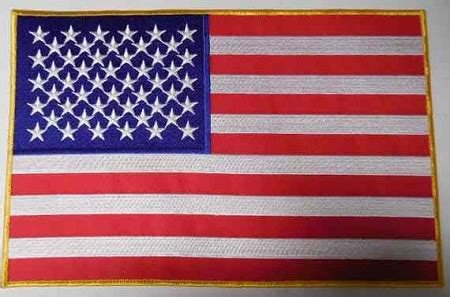 american flag gold outline p