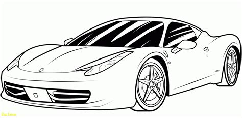 Ferrari Coloring Sheet