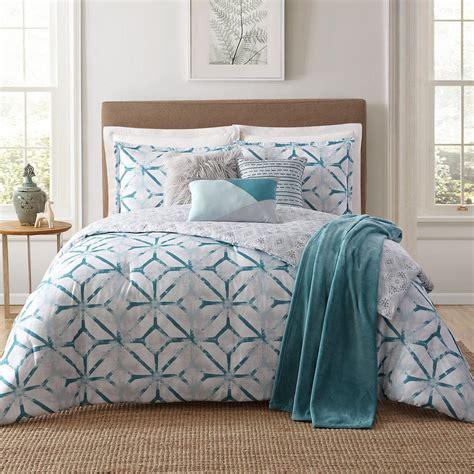 teal king size comforter sets home lancaster 7 white king comforter 8438