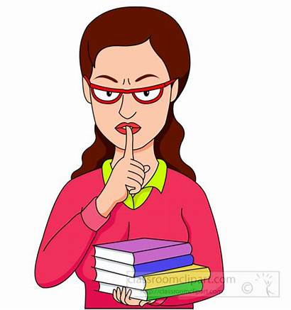 Quiet Clipart Librarian Lips Clip Library Iwth