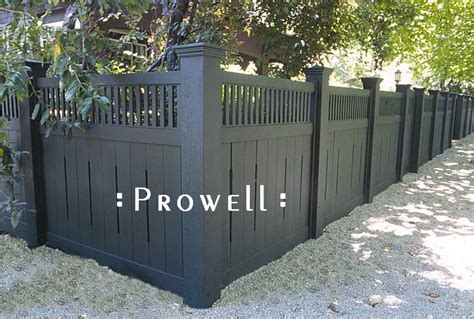 fences design custom wooden fence panel design 1 by prowell woodworks