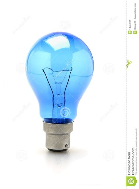 blue light bulb blue tungsten light bulb stock photography image 14587502