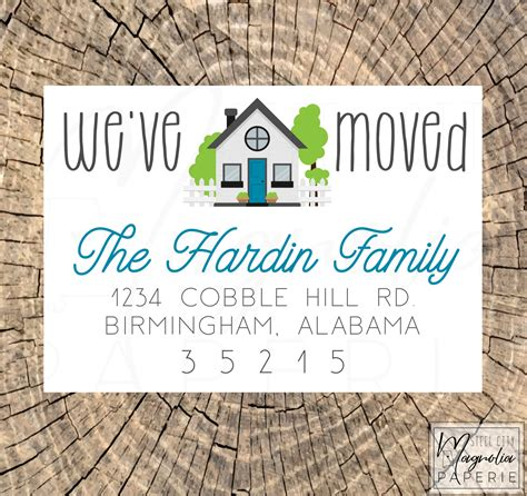 We've moved cards personalized 15 cards and envelopes. We've Moved Cards New Address Card Our New Home Change | Etsy
