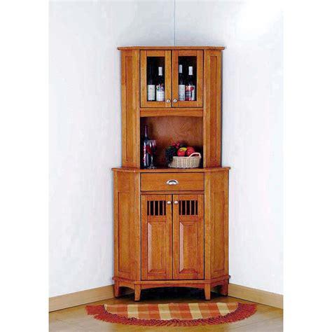 corner hutch for kitchen home styles nantucket corner buffet and hutch oak finish