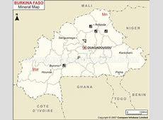 Burkina Mineral Map Natural Resources of Burkina