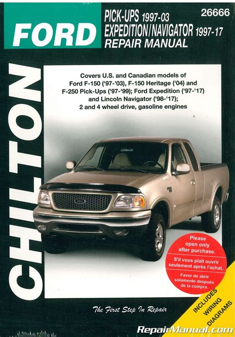 small engine maintenance and repair 2003 ford excursion seat position control chilton ford ford pick ups 1997 2003 ford expedition and lincoln navigator 1997 2017 repair manual