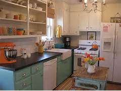 Pretty Bright Small Kitchen Color For Apartment Style Kitchen As Well This Eclectic Room Is Full Of Bright Colors