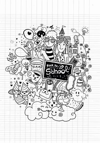 Coloring Doodle Pages Doodles Kawaii Adults Printable