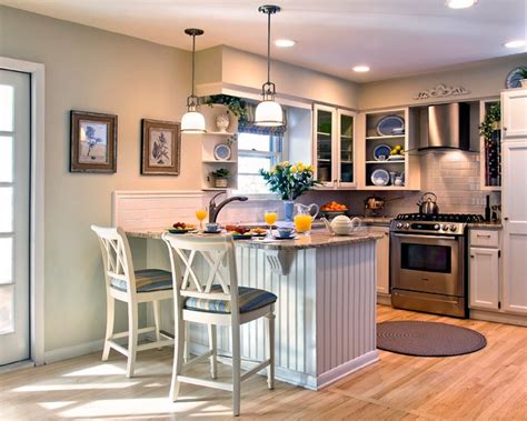 cottage style kitchen after bord de mer cuisine new york par nancy lucas decorating den