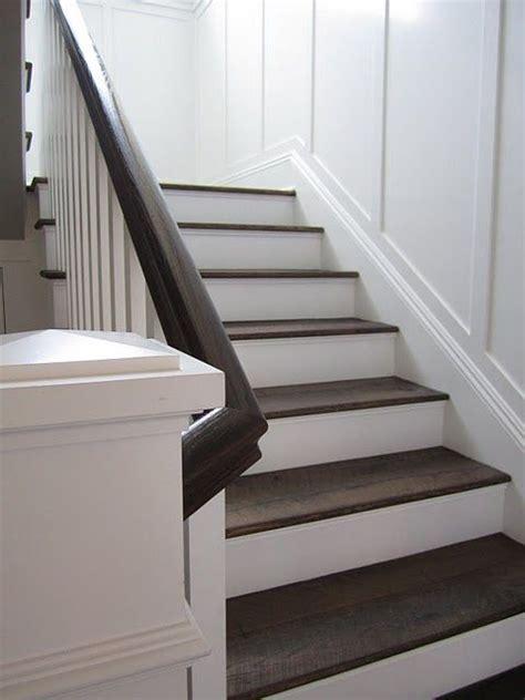 walnut white wainscoting stairs wood stairs house