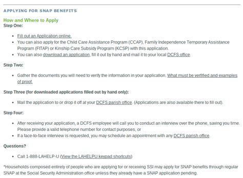 Apply For Louisiana Food Stamps Online