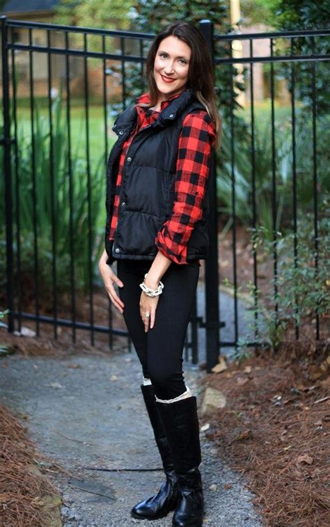 Must Have Plaid Button Up Vest Outfits Cute Fall