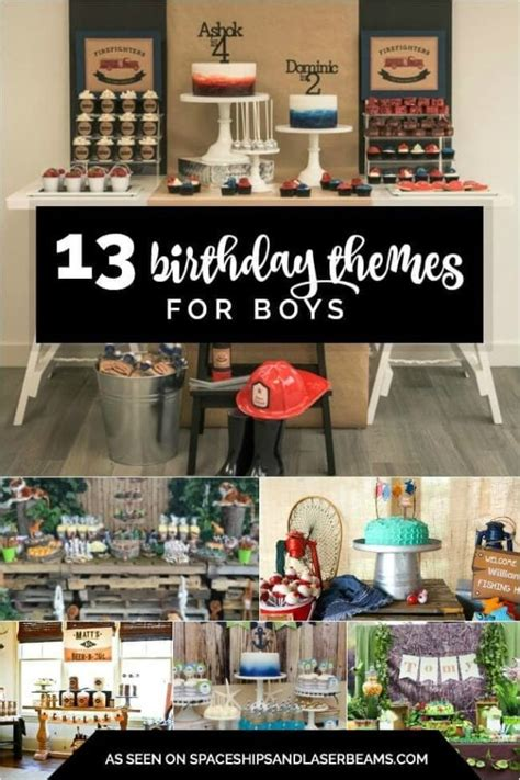 birthday themes  boys spaceships  laser beams