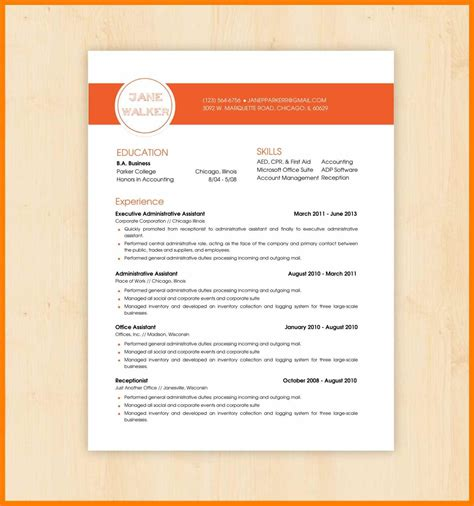 word document templates  good resume format