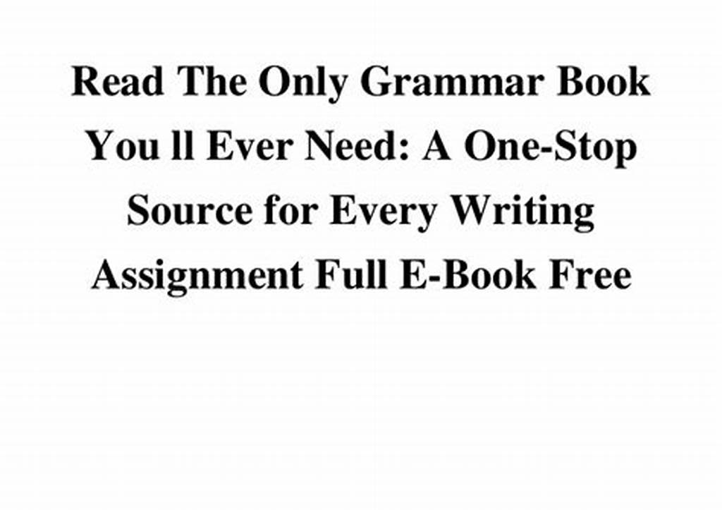 #Read #The #Only #Grammar #Book #You #Ll #Ever #Need #A #One #Stop