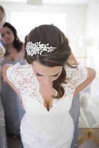 bijoux de cheveux mariee le son de la mode With robe de mariée dentelle avec parure bijoux soirée
