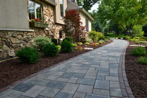 unilock brewster landscaping ideas to transform your front yard