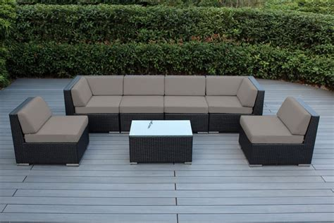 sunbrella fabric sectional sofas ohana collection 7pc sunbrella outdoor sectional sofa set