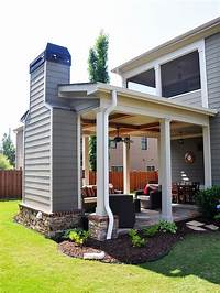 covered porch ideas Outdoor covered patio with fireplace, great addition idea ...
