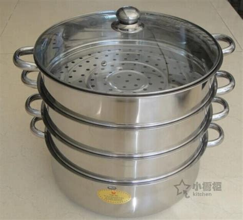 large steamer pot free shipping 38cm 40cm large size stainless steel steamer 3669