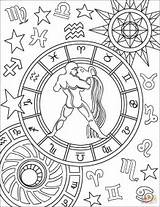 Zodiac Aquarius Coloring Sign Pages Printable Signs Adult Star Mandala Supercoloring Drawing Sagittarius Coloringpages Colors Crafts Animals Printables Lesya Colorings sketch template