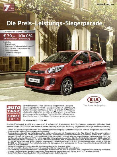 auto null prozent finanzierung kia picanto 1 0 team edition ab 79 im monat pagenstecher de deine automeile im