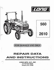 Long 260  310  1580 Tractor Service Manual