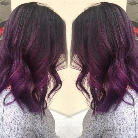 Darker Brown Hair by Purple Hair On Darker Brown Morado Cabello