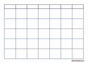 Calendar Grid Blank Calendar Grid 2016 To Print Pdf And Excel Forms