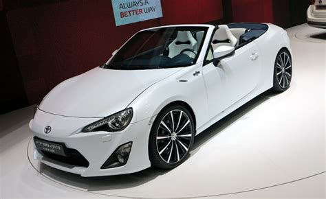 Toyota Scion Convertible by Toyota Ft 86 Open Concept Previews Scion Fr S Convertible