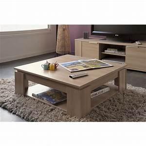 Table Basse Carrée En Bois : chivas table basse carr e achat vente table basse ~ Teatrodelosmanantiales.com Idées de Décoration