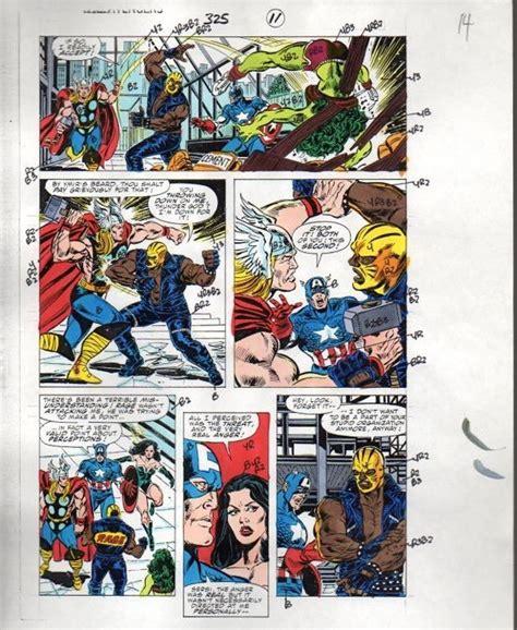 Original Marvel Comics Colorist's color guide artwork page ...
