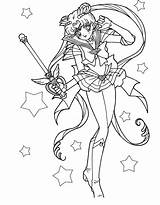 Wand Coloring Magic Sailor Moon Pages Colouring Drawing Anime Usagi Cartoon Carries Cat Getdrawings Wands Sheets sketch template
