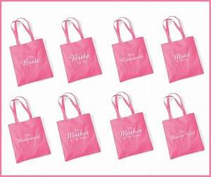 printed pink wedding party bridal tote bags bridesmaid With wedding tote gift bags