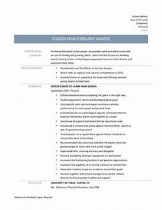 Special Skills And Abilities For Resume Soccer Coach Resume Samples Tips And Templates Online