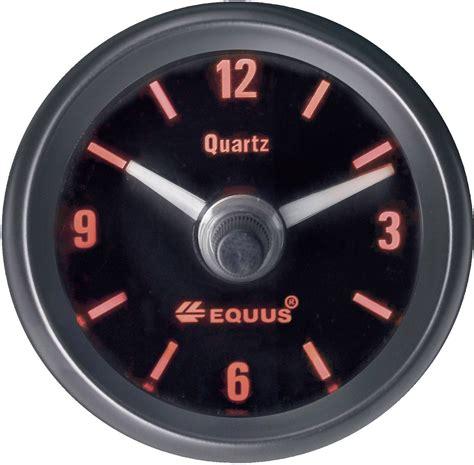 horloge  quartz analogique equus   leds conradfr