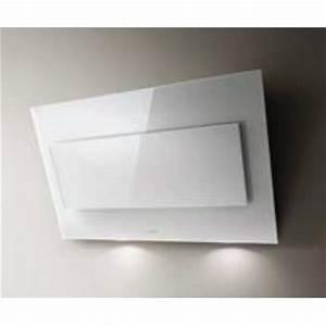 Hotte Blanche 90 Cm : hotte d corative murale elica vertigo 90cm verre blanc prf0079554 745 rvlp ~ Melissatoandfro.com Idées de Décoration