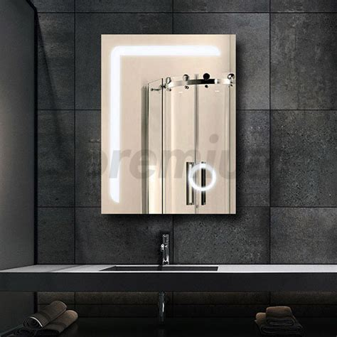 led bathroom magnifying mirror wall mounted light