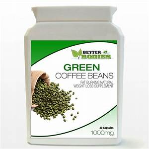 Green Coffee Bean Extract Capsules 1000mg 50  Cga Weight Loss Diet Bottle