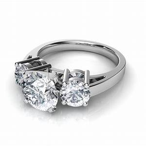 three stone diamond engagement rings With wedding bands for 3 stone rings