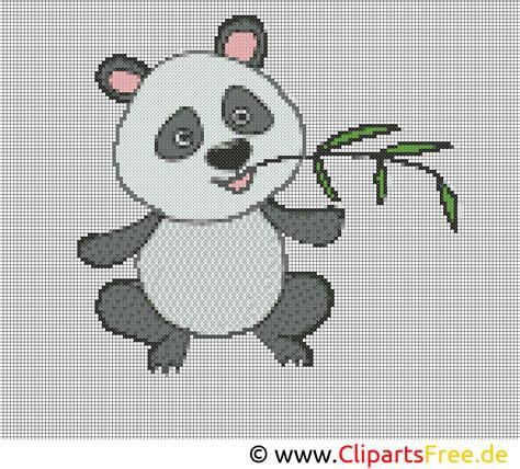 stickvorlage panda stickvorlagen kostenlos