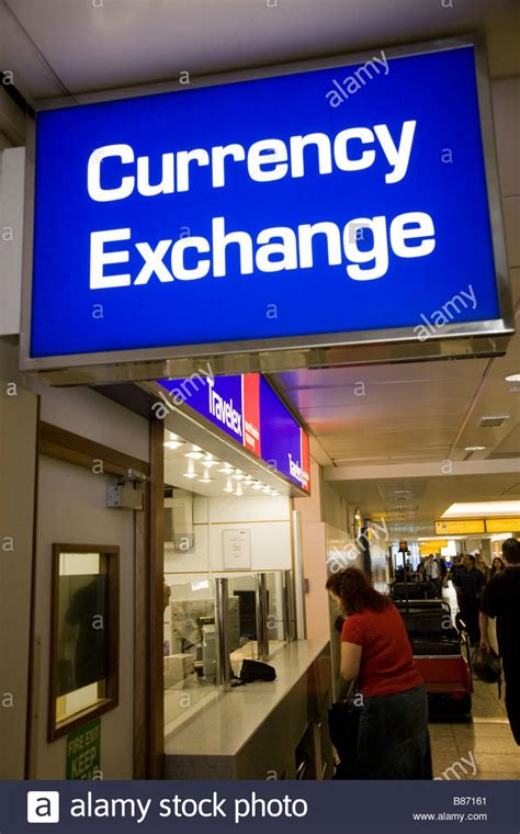 bureau de change heathrow passenger at a bureau de change office operated by