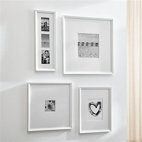 icon white wall frames crate  barrel