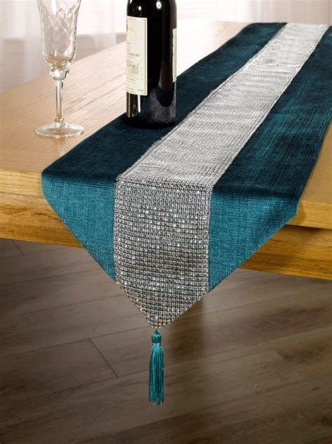 Eclat Teal   Table Runners   Kitchen   Duffy's Curtains