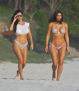 Kim Kardashian's Body Looks Totally Sculpted in a Dazzling