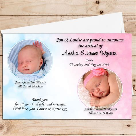 twin birth announcements photo cards birth announcement cards baby announcement cards